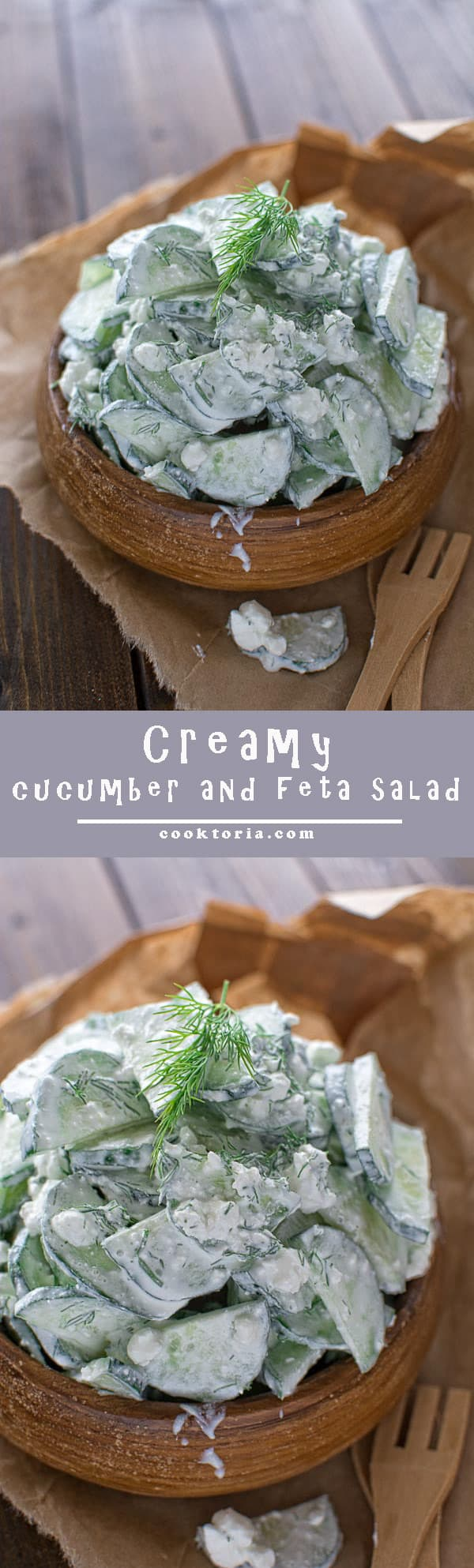Delicious and creamy cucumber and feta salad that your whole family will love. ?tgncooking.com
