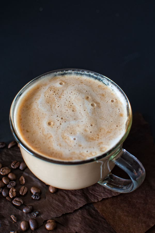 Try this homemade recipe of the most popular Starbucks drink ? Caramel Macchiato! Lightly sweetened vanilla milk mixed with smoky (homemade!) espresso and topped with buttery caramel sauce!