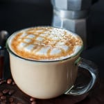 Try this homemade version of the most popular Starbucks drink ? Caramel Macchiato! Lightly sweetened vanilla milk mixed with smoky (homemade!) espresso and topped with buttery caramel sauce! ? tgncooking.com