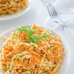 This Skinny Cabbage Salad is perfect recipe for summer: light, fresh, healthy and soooo easy to make. Oh! And it helps to lose pounds too! ? tgncooking.com