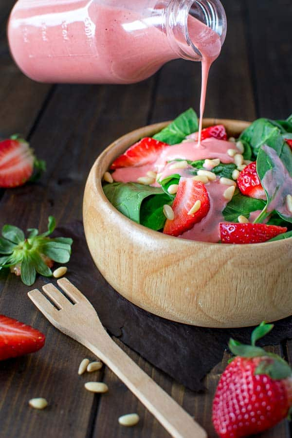 This really is The Best Strawberry Dressing and it?s seriously addicting. It is simple to make and tastes great on many salads! ? tgncooking.com