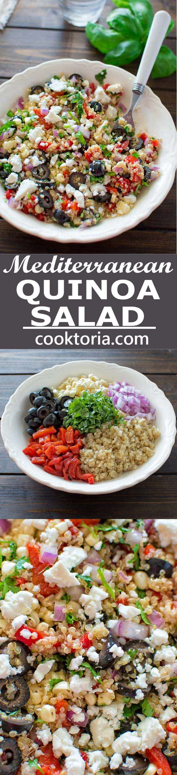 All the flavors of Mediterranean cuisine in one bowl! Healthy and so easy to make, this Mediterranean Quinoa Salad makes a perfect lunch or dinner. ? tgncooking.com