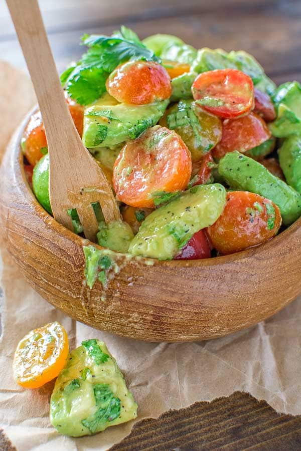 Healthy and so flavorful, this Tomato Avocado Salad makes a great addition to your dinner or lunch. This is one of the most loved recipes in my family! ? tgncooking.com