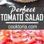 Absolutely scrumptious and so simple to make this Perfect Tomato Salad makes a great side dish to almost any meal. ? tgncooking.com