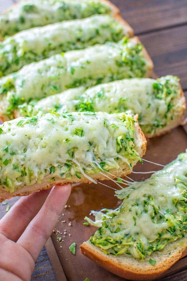 This Zucchini Pizza on Bread is unbelievably simple and very tasty! It takes only 30 minutes to make! ? tgncooking.com