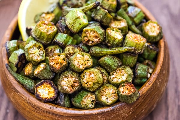 This is a simple, flavorful, and easy Baked Okra recipe. Seasoned with paprika, salt, and a pinch of cayenne, this okra makes a great snack or side dish.