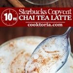 Follow my step-by-step instructions and make a classic Starbucks Chai Tea Latte at home! This drink is easy to make, tasty, and it will keep you warm during the cold season.
