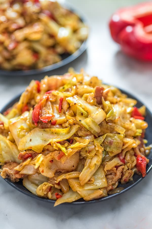 Fried Cabbage on a plate