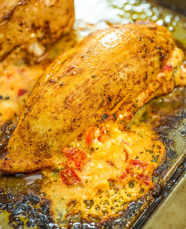 This Roasted Pepper Stuffed Chicken Breast is, hands down, the most delicious way to enjoy chicken! It's easy to make, and you will feel like eating in a 5 star restaurant.