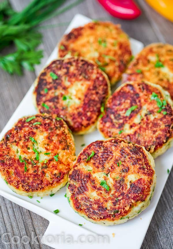 Mashed Potato Cakes on a plate