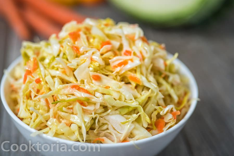 Pickled Cabbage Salad in a bowl