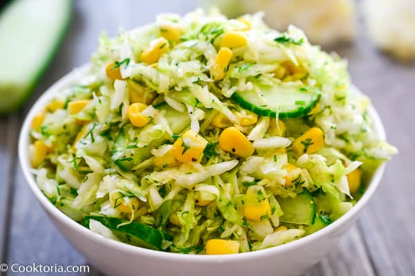 Cabbage Salad in a bowl