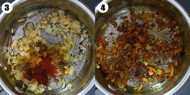 adding spices to the onions