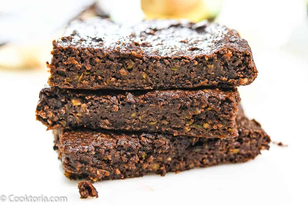 Avocado Brownies on a white background