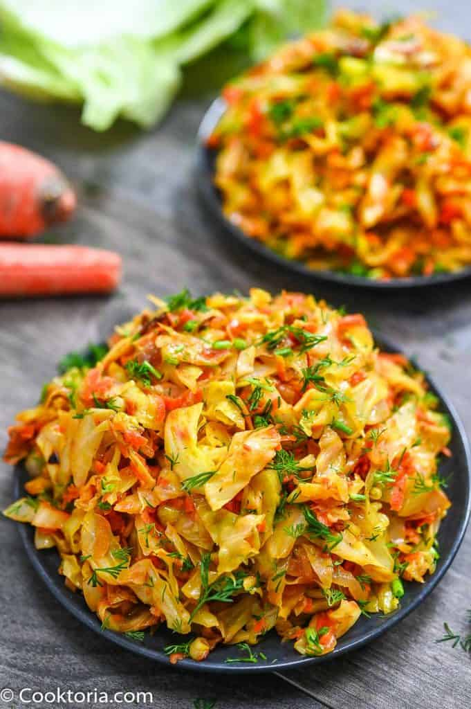 Sauteed Cabbage on a plate