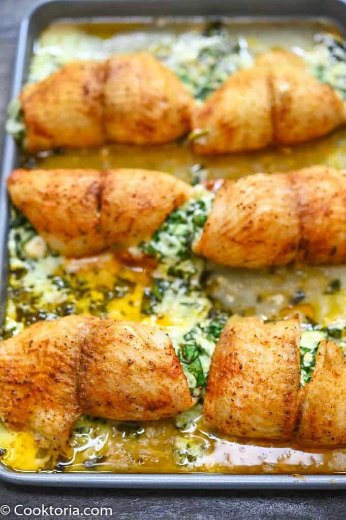 Baked Spinach Stuffed Flounder