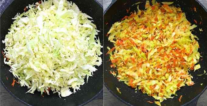 cooking the cabbage