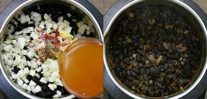 cooking the black beans